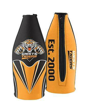 Wests Tigers NRL Long Neck Tallie Beer Bottle Cooler Holder Wine Bottle