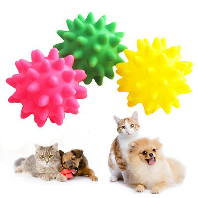 New Pet Dogs Bite Chew Toys Sounding Meteor Ball Rubber Hot..