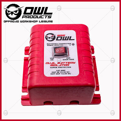 Owl Voltage Sensitive Relay 12V Vsr Isolator 140A Dual Battery System + Switch