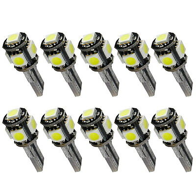 10x Kalt Weiß Hell Innenraumbeleuchtung Standlicht W5W 5SMD LED T10 12V CANBUS