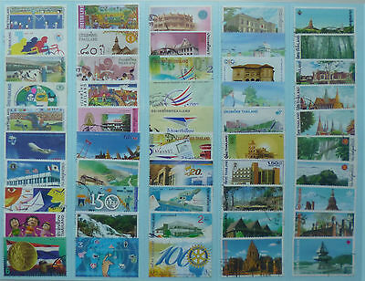 THAILAND STAMP COLLECTION PACKET of 50 DIFFERENT LARGE SIZE STAMPS USED (Lot 5)