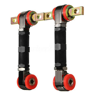Black Adjustable Racing Rear Suspension Camber Control Arms Kit For Honda Civic