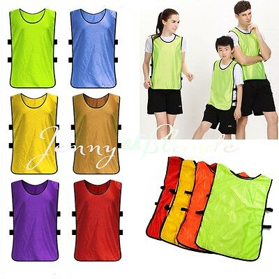 12Colors Youth Adult Practice Team Jerseys Mesh Scrimmage Training Vest Sports