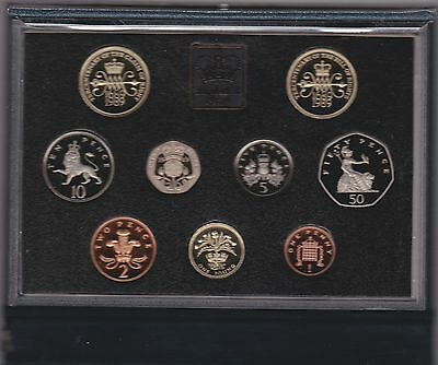 1989 Standard Proof Set Of 9 Coins Includes The Claim Of Rights £2 Coin