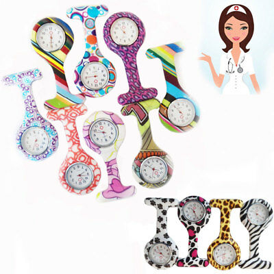 Funky Nurse Watch FOB Colourful Fun Print Silicone Cover Hospital Doctor Watches