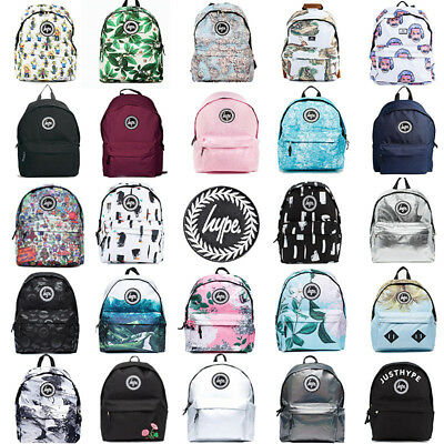 Hype Backpack Travel Rucksack Shoulder Bags Satchel Black Burgundy Galaxy Lot