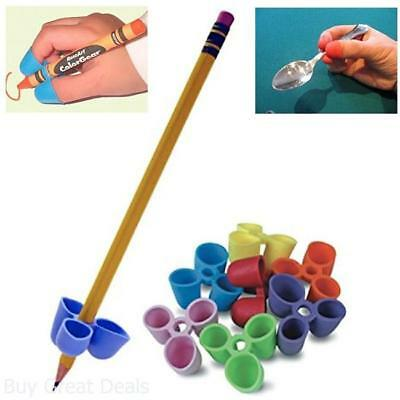 2x Mini Pencil Pen Grip Kids Handwriting Aid Right Left Hand Writing Learning LC