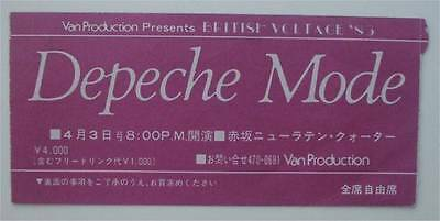 Depeche Mode ticket  New Latin Quartier Tokyo Japan 03/04/83  - 8pm performance