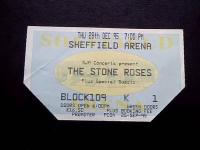 Stone Roses ticket Sheffield Arena 28/12/95