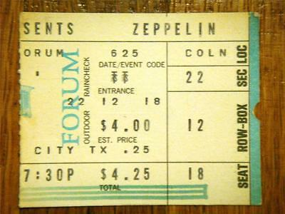 Led Zeppelin ticket Inglewood Forum Los Angeles 25/06/72