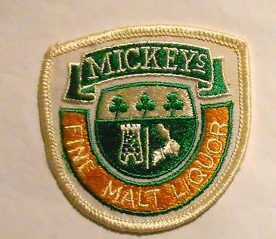"""Mickeys  Malt Liquor Beer Patch 3""""  inches  Ale  Vintage"""