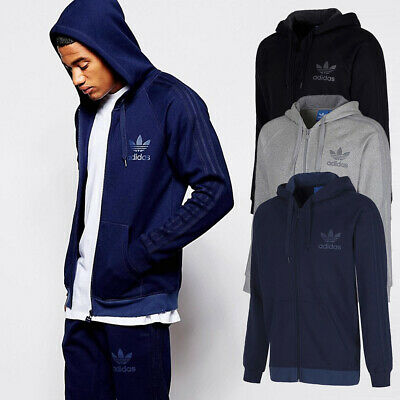 e2b7d0a19636 New Adidas Originals SPO Trefoil Full ZIp Hoodie Mens Hooded Sweatshirt  Jacket ✅