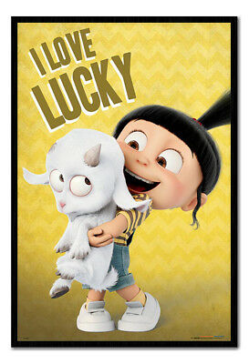 Framed Despicable Me 3 I Love Lucky Poster New