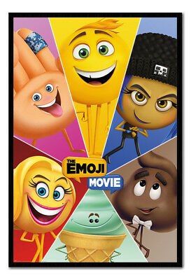 Framed The Emoji Movie Star Characters Poster New