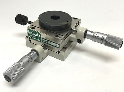 "Line Tool 128-RH Micropositioner X-Y 0.5"" Travel & 20 Degree Rotary Platen Stage"