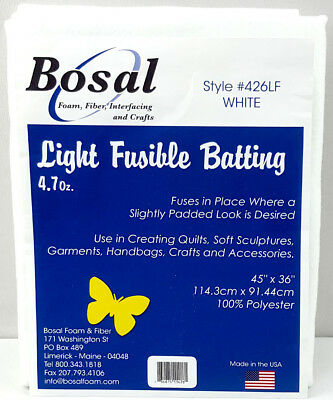 NEW | Bosal 3503-02 | Polyester Light Fusible Batting |  114.3x91.4cm | 4.7oz