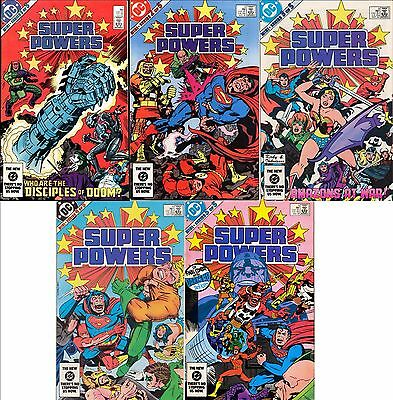 Super Powers #1 2 3 4 5 (Complete) Dc/ Jack Kirby Story & Covers Batman Superman