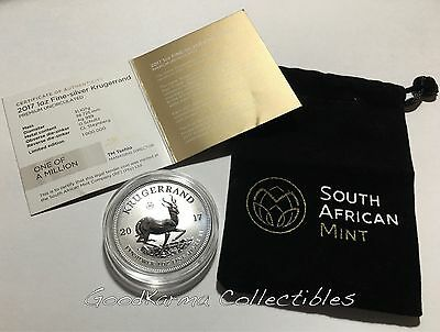 2017 South African 50th Anniv 1st Ever 999 SILVER KRUGERRAND UNC Rev Proof Like