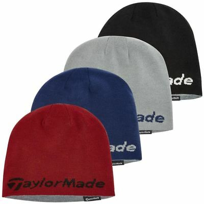 63% OFF RRP TaylorMade Reversible Thermal Golf Beanie Double Knitted Mens Hat