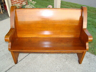 100+ years old antique oak church pew from Chicago church/you decide width!
