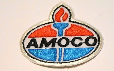 """Amoco Gasoline Patch Embroidered Oil 3"""" inches  Vintage Torch"""