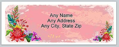 Personalized Address Labels Flowers Buy3 get1 free(ac 851)