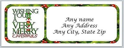 30 Personalized Address Labels Christmas Buy 3 get 1 free (ac 100)
