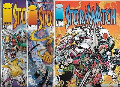 Stormwatch Lot Of 3 - #1 #2 #3 (Nm-) Image Comics