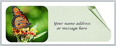 30 Personalized Return Address Labels Butterfly Buy 3 get 1 free (bo 835)