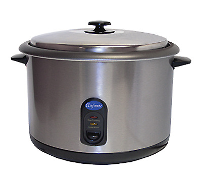 Globe Chefmate Rice Cooker Rc1 25 Cup Cook And Warm Cycle Commercial Display