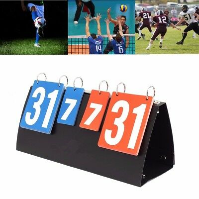 Portable Sports Scoreboard For Football Volleyball Basketball Score Record New
