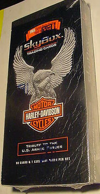 WHOLESALE LOT BOX OF HARLEY DAVIDSON PATCHES CARDS US Armed Forces Skybox 1994