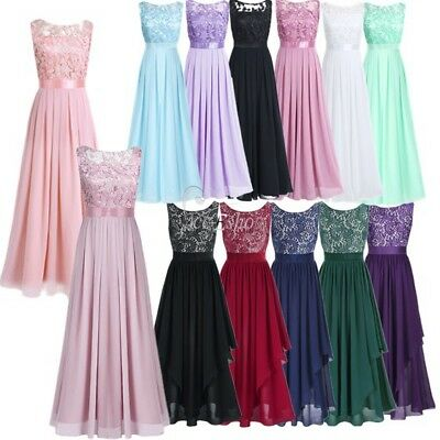 Women's Elegant Wedding Bridesmaid Cocktail Party Prom Gown Long Evening Dress