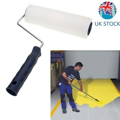 White Plastic Spiked Aeration Latex Flooring Screed Levelling Compound Roller