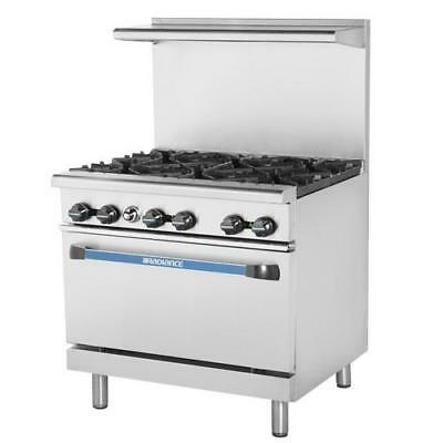 Turbo Air - TAR-6 - 36 in Restaurant Range w/ 6 Burners & Standard Oven
