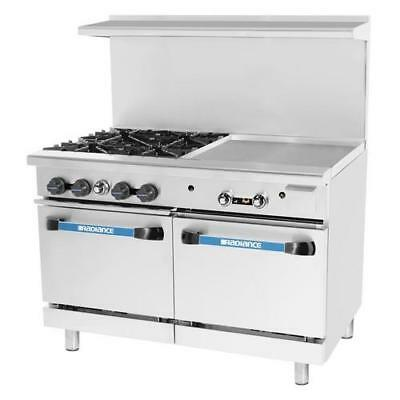 Turbo Air - TARG-4B24G - 48 in 4 Burner Gas Range w/24 in Right Side Griddle