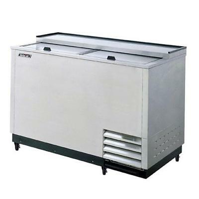 Turbo Air - TBC-50SD-GF - 50 in 2 Lid SS Glass Chiller