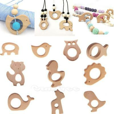 Wooden Teether Natural Baby Teething Toy Eco-friendly Wood Teething Shower Gift
