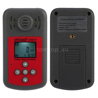LCD Portable Carbon Monoxide Meter CO Gas Tester Monitor Detector 0-2000ppm S9D5