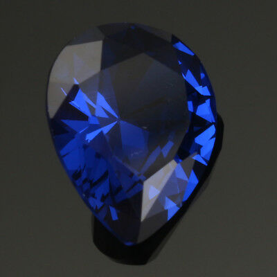 5PCS UNHEATED 5.26ct Blue Sapphire Pear Cut Loose Gemstone Rings Jewelry 9x11mm