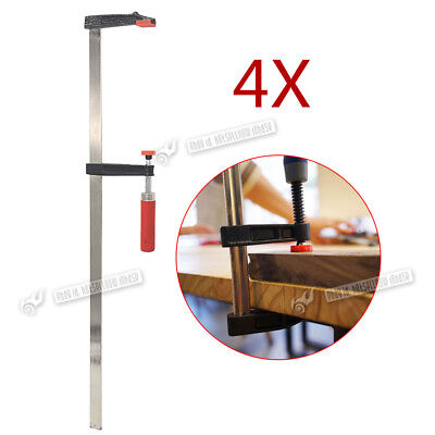 """F Clamps Bar Clamp 4pc Set Quick Slide Wood Clamp 600mm x80mm 24"""""""" Long"""