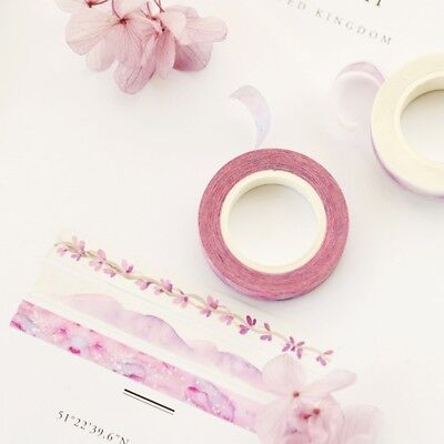 Watercolor Washi Paper Adhesive Tape Masking Sticky Scrapbooking Sticker Decor