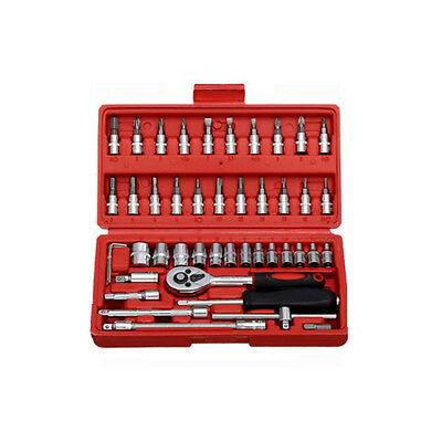 High quality Carbon Steel Mirror 46 sets of Sleeve Sets of Ratchet Wrench Sets
