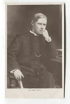 Rev. Preby. Boyd - religious minister - old real photo postcard