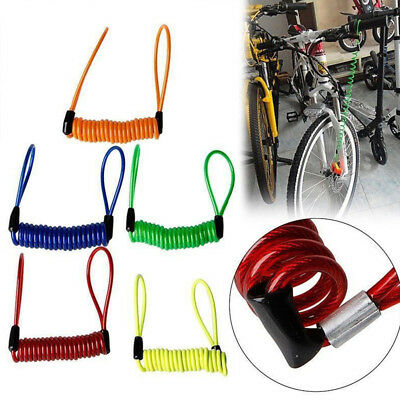 Motorcycle Bike Alarm Disc Lock Anti-theft Security Spring Reminder Cable Rope