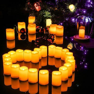 (pack of 10) 3X4 Inches Flameless Plastic Pillar Led Candle Light With Timer