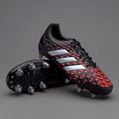 adidas Kakari Elite SG Black Red AQ2056 Rugby Boots Size UK 10.5, 11.5
