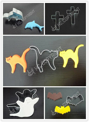 Mult Shape Cookie Metal Cutter Animal Biscuit Pastry Fondant Cake Decorate Mould