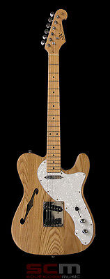 Guitar Sale Sx Thinline F Hole Semi-Hollow Electric Guitar Natural Finish New