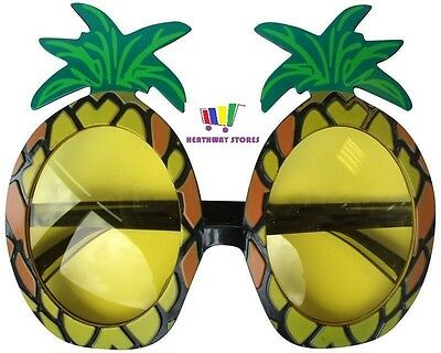 Adult Pineapple Sun Glasses Novelty Hawaiian Beach Hen Stag Party Fancy Dress